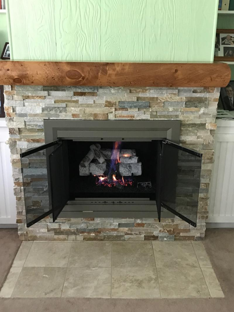 Fireplace Renovation/After